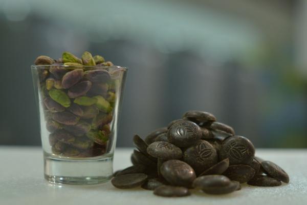Gelato di Cioccolato Fondente al Pistacchio di Bronte DOP biologico Galliera 49 bottega gelateria Bologna