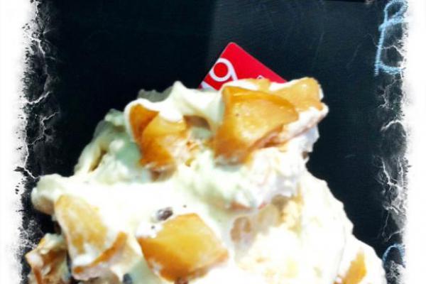 Gelato di Ricotta di Vacca Bianca modenese, pere e cioccolato Galliera 49 bottega gelateria Bologna